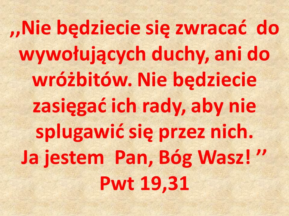 Ja jestem Pan, Bóg Wasz! ''
