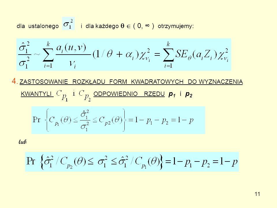 dla ustalonego i dla każdego   ( 0, ∞ ) otrzymujemy: