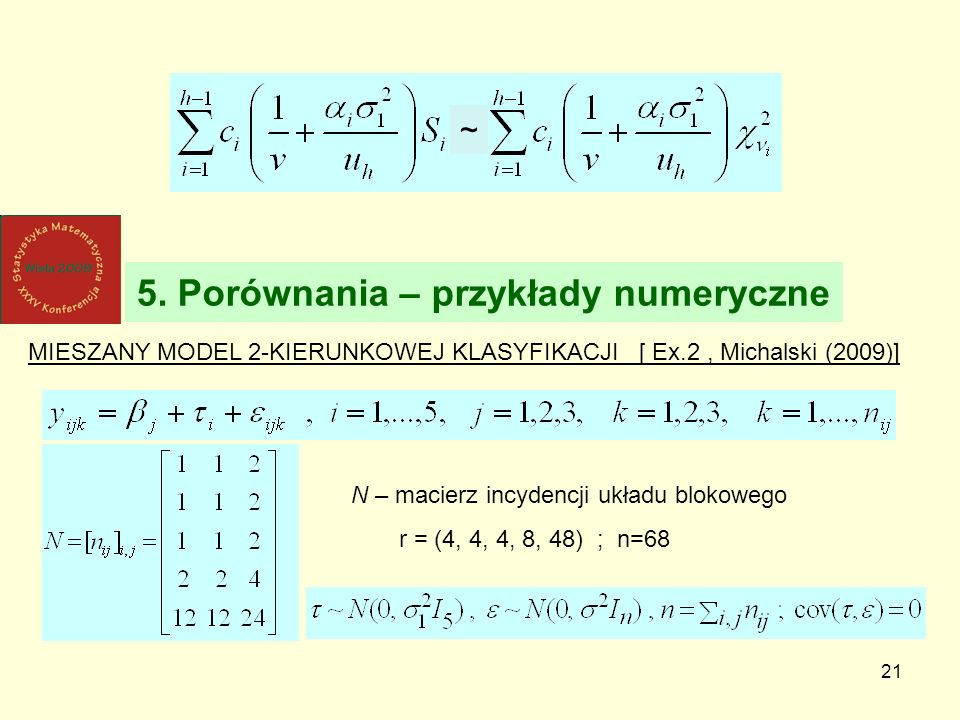 5. Porównania – przykłady numeryczne