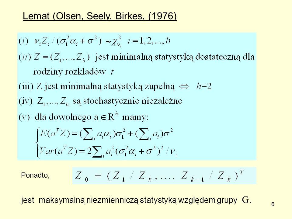 Lemat (Olsen, Seely, Birkes, (1976)