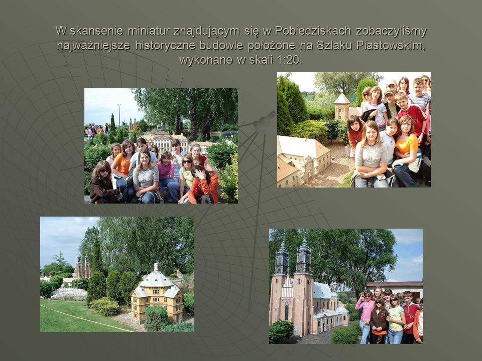 W skansenie miniatur znajdującym się w Pobiedziskach zobaczyliśmy najważniejsze historyczne budowle położone na Szlaku Piastowskim, wykonane w skali 1:20.