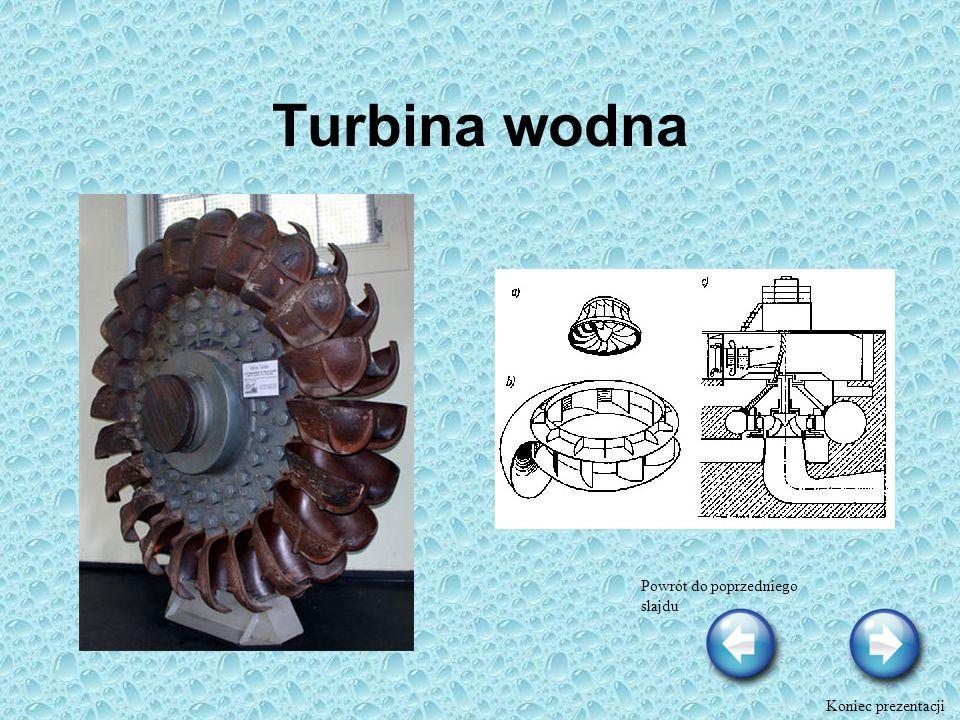 Turbina wodna Powrót do poprzedniego slajdu Koniec prezentacji