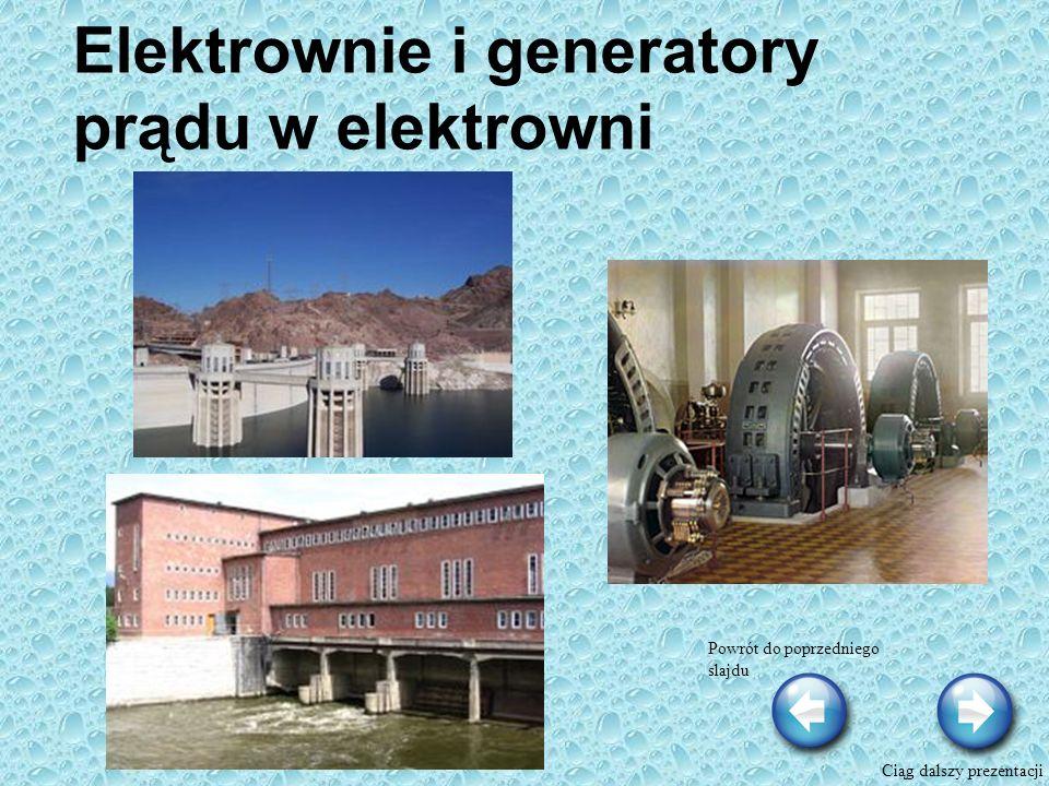 Elektrownie i generatory prądu w elektrowni