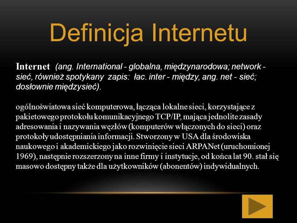 Definicja Internetu