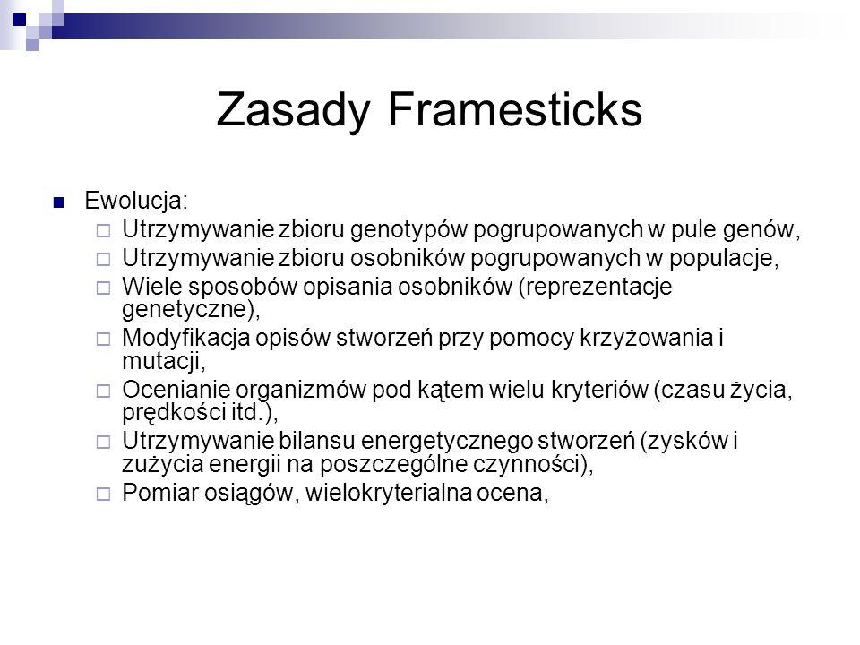 Zasady Framesticks Ewolucja: