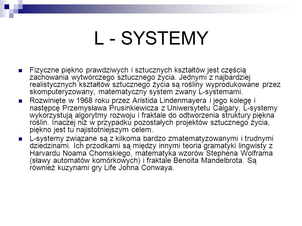 L - SYSTEMY