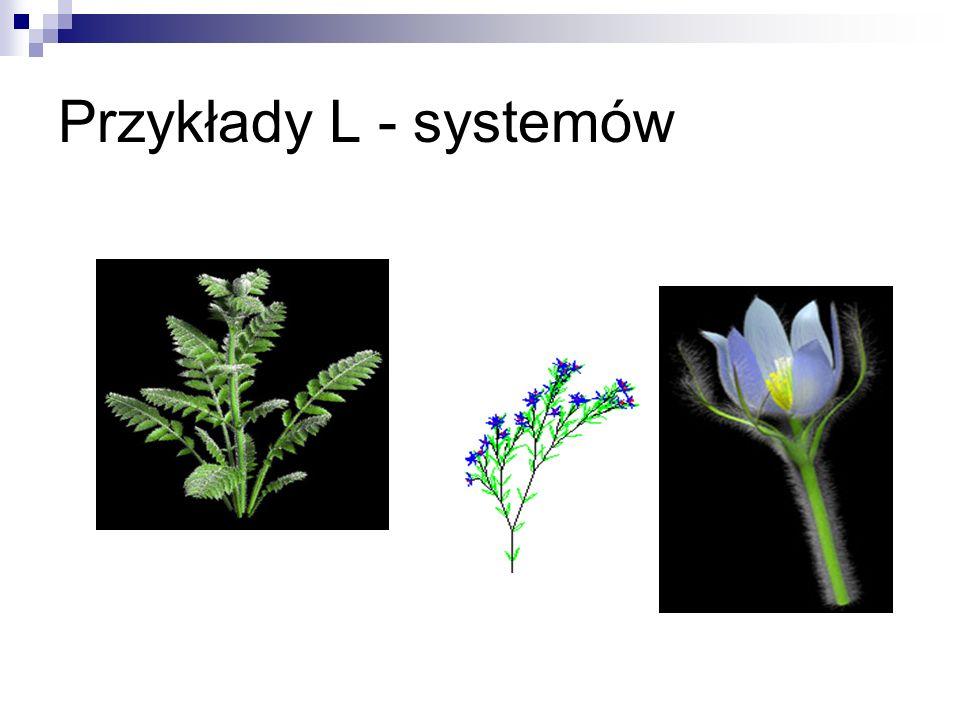 Przykłady L - systemów