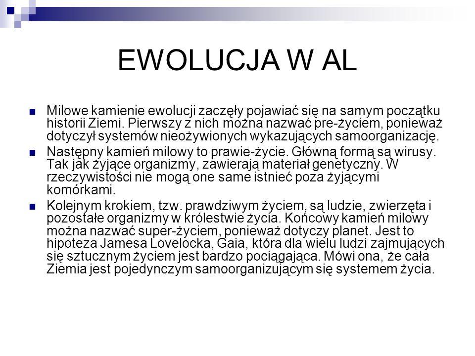 EWOLUCJA W AL