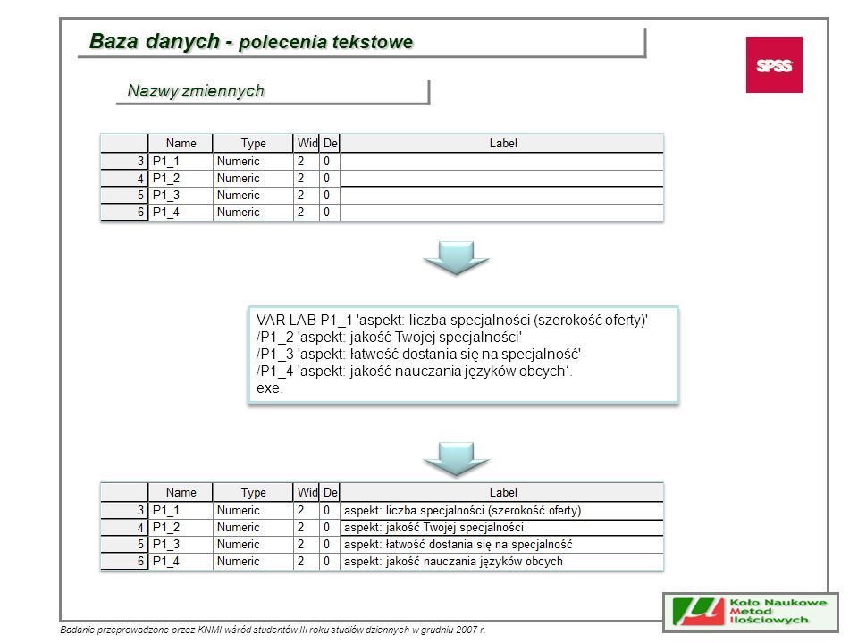 Baza danych - polecenia tekstowe