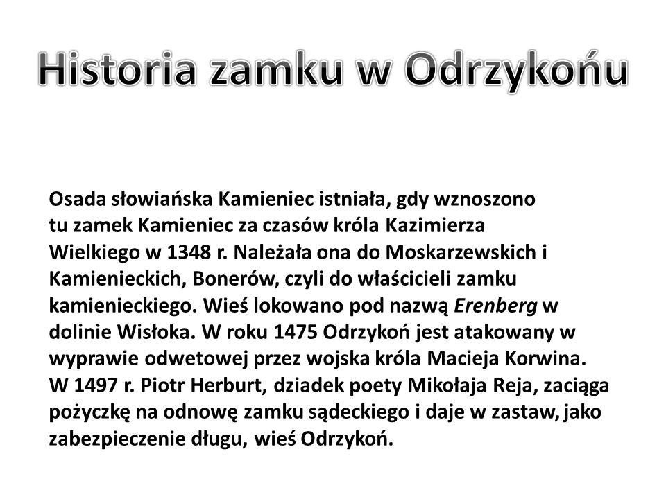 Historia zamku w Odrzykońu