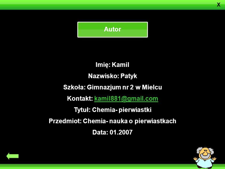 Szkoła: Gimnazjum nr 2 w Mielcu Kontakt: kamil881@gmail.com