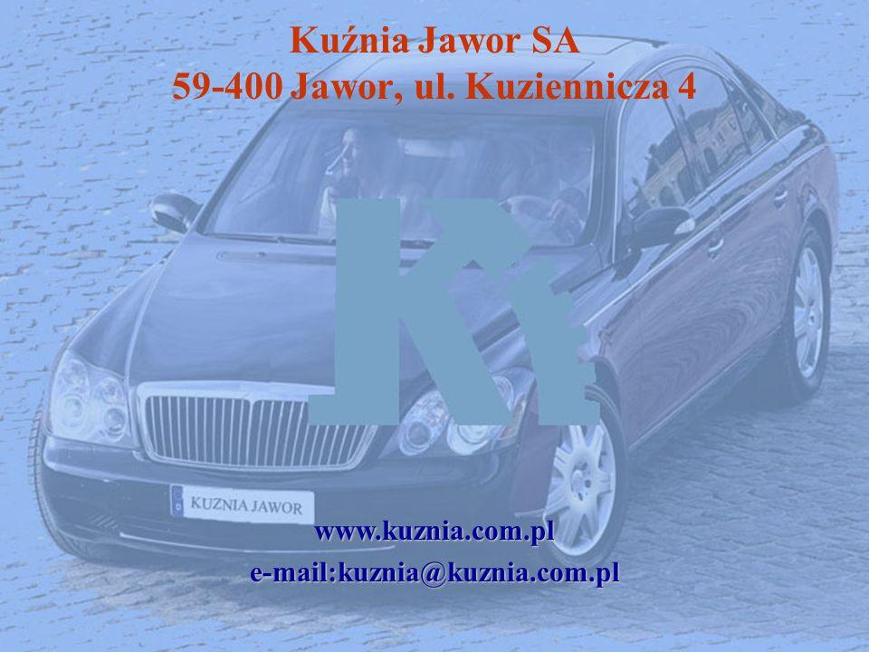 Kuźnia Jawor SA 59-400 Jawor, ul. Kuziennicza 4
