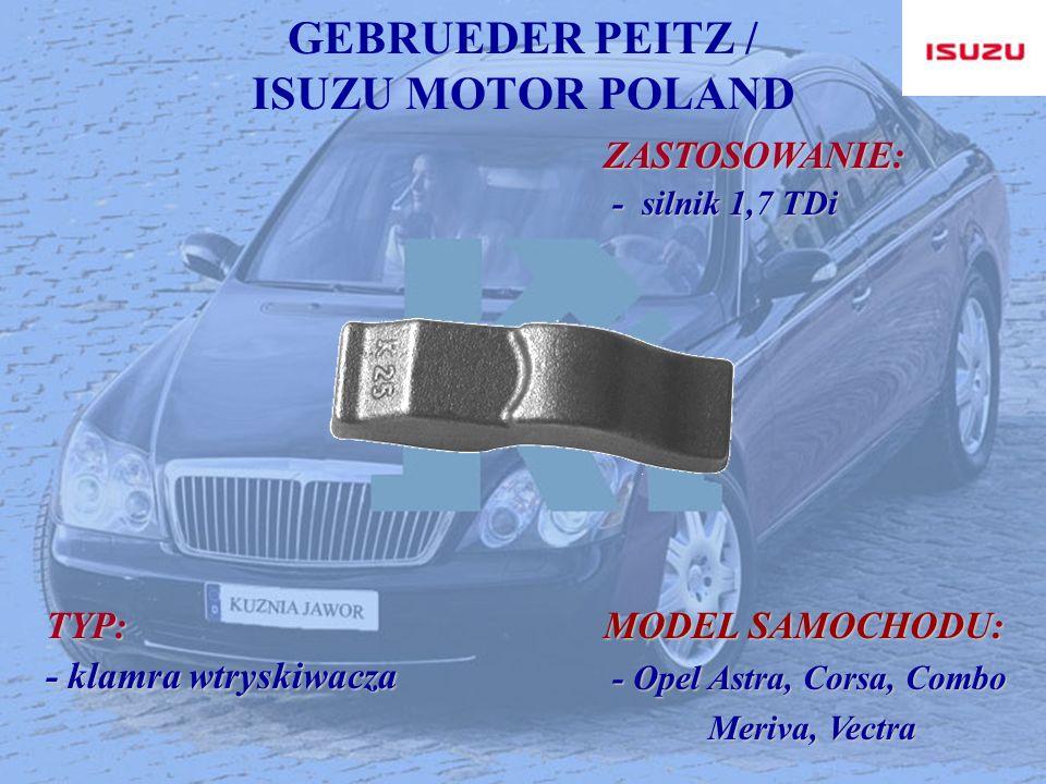 GEBRUEDER PEITZ / ISUZU MOTOR POLAND