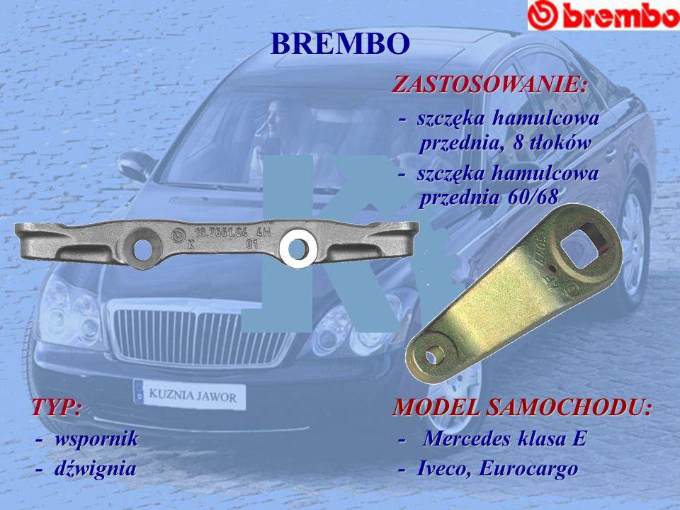 BREMBO - szczęka hamulcowa przednia, 8 tłoków TYP: MODEL SAMOCHODU: