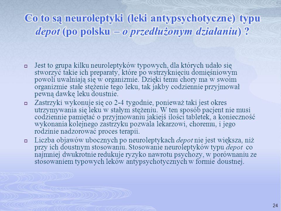 Co to są neuroleptyki (leki antypsychotyczne) typu depot (po polsku – o przedłużonym działaniu)