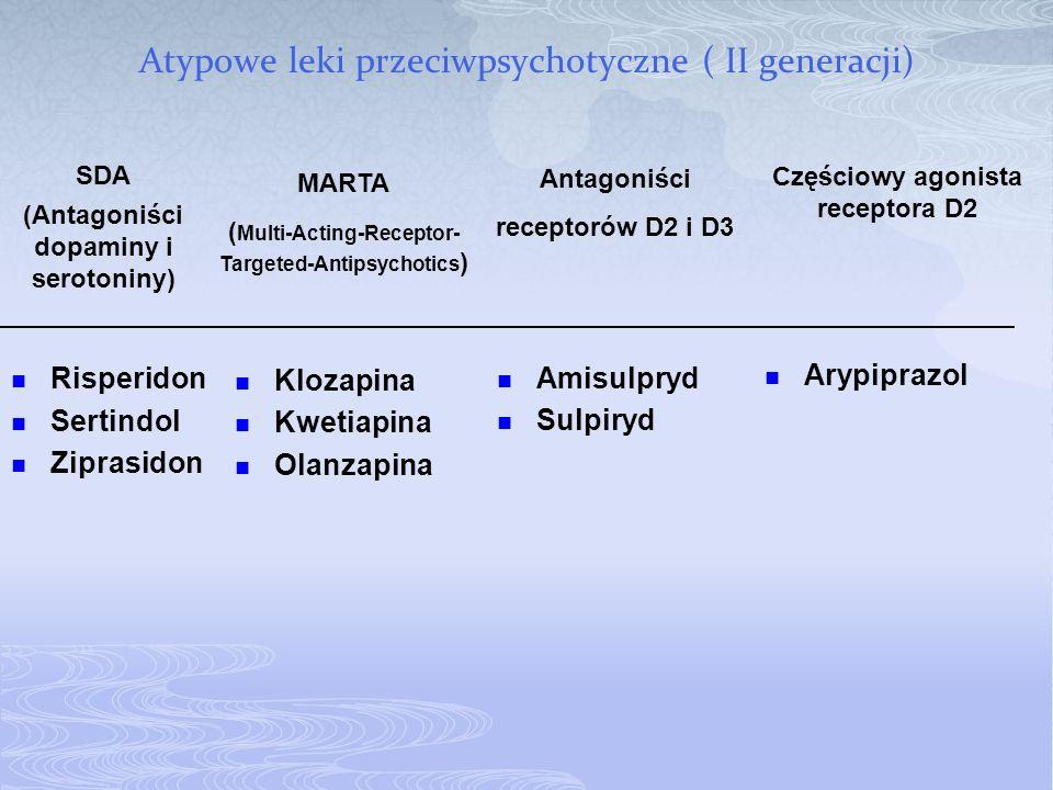 Atypowe leki przeciwpsychotyczne ( II generacji)