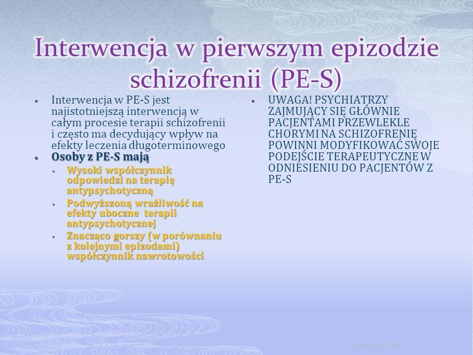 Interwencja w pierwszym epizodzie schizofrenii (PE-S)