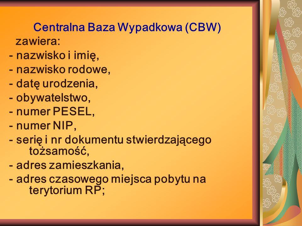 Centralna Baza Wypadkowa (CBW)