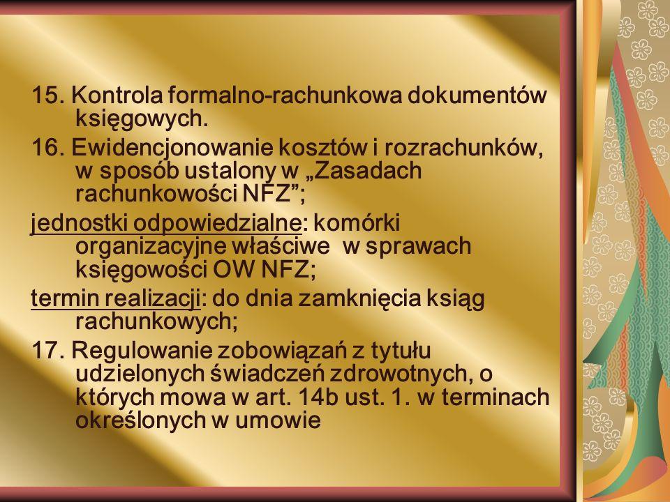 15. Kontrola formalno-rachunkowa dokumentów księgowych.