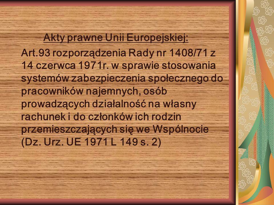 Akty prawne Unii Europejskiej: