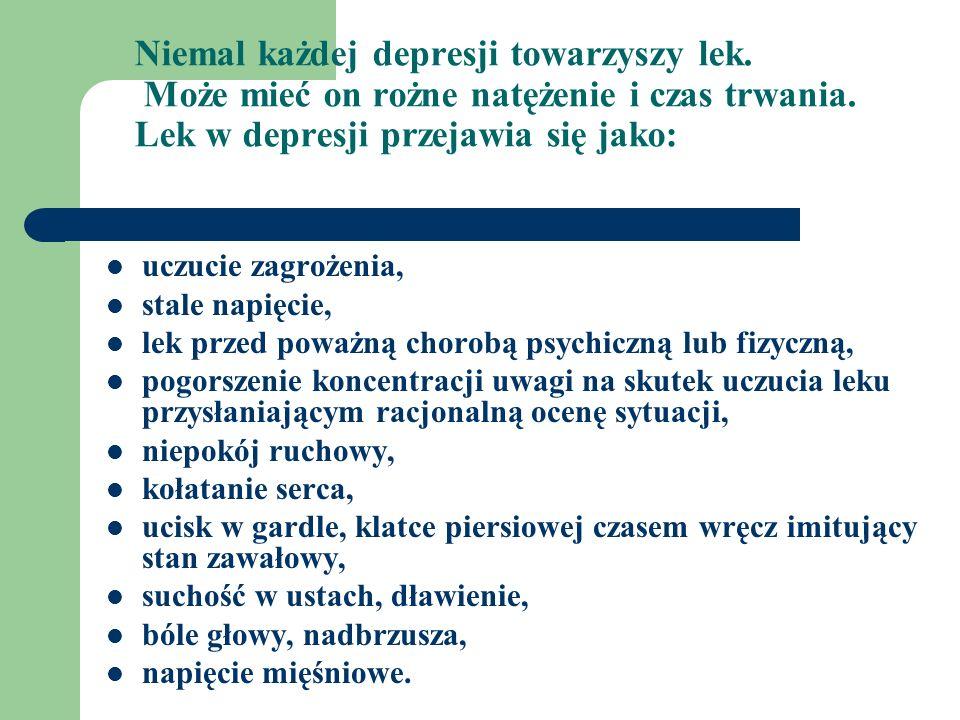 Niemal każdej depresji towarzyszy lek
