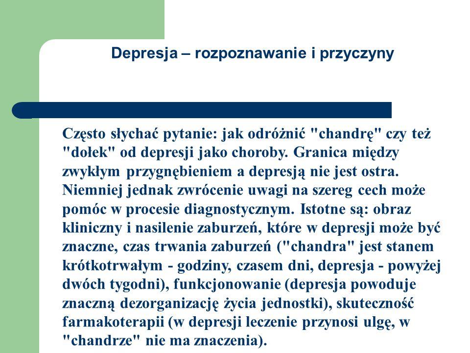 Depresja – rozpoznawanie i przyczyny