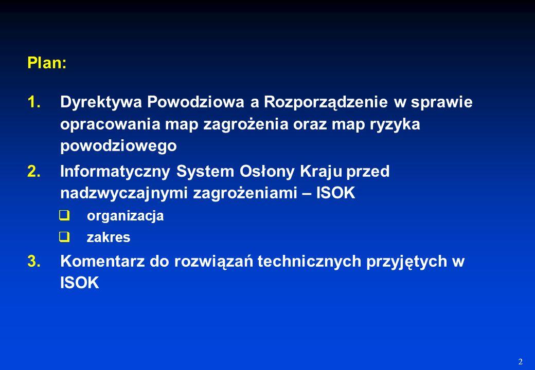 Komentarz do rozwiązań technicznych przyjętych w ISOK