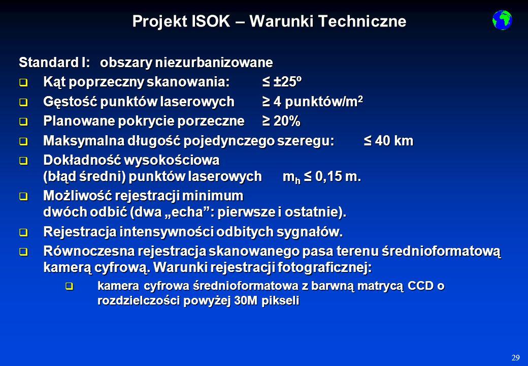 Projekt ISOK – Warunki Techniczne