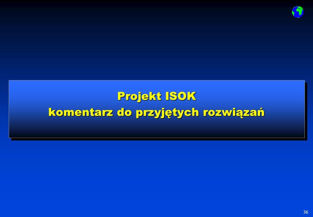 Projekt ISOK komentarz do przyjętych rozwiązań