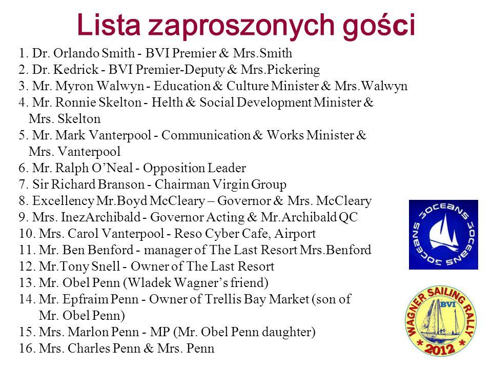 Lista zaproszonych gości