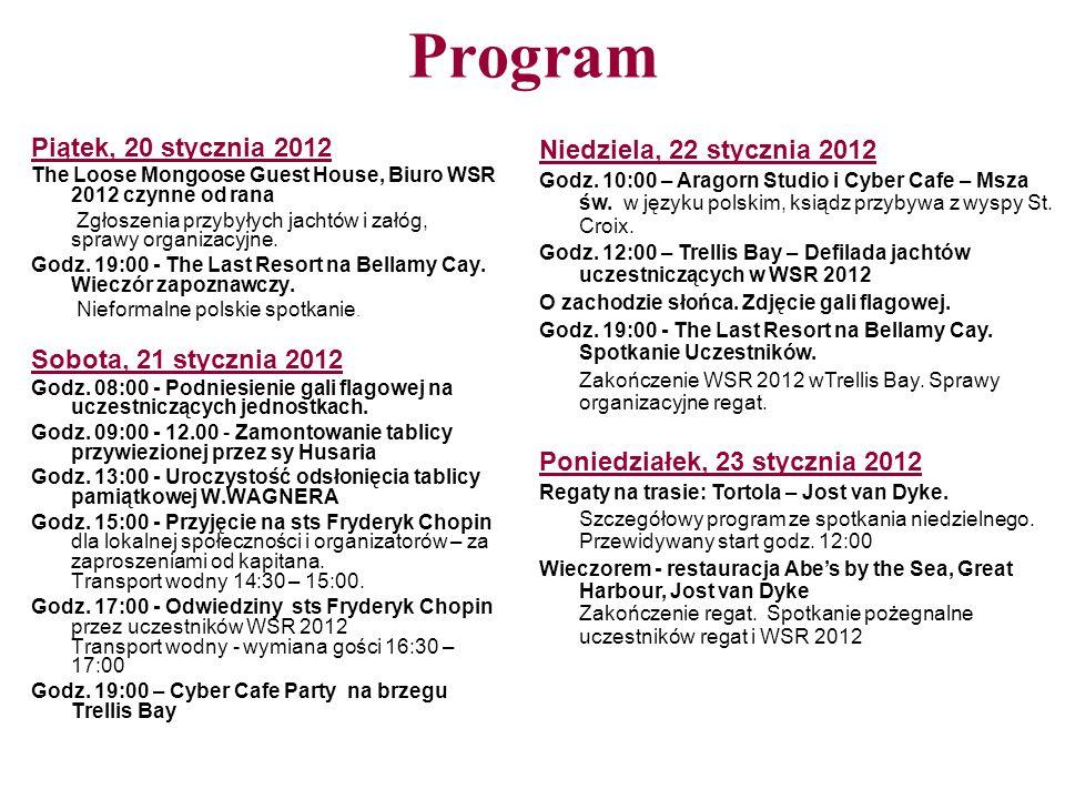 Program Piątek, 20 stycznia 2012 Sobota, 21 stycznia 2012