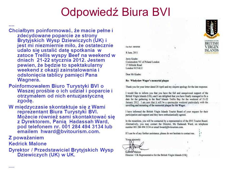 Odpowiedź Biura BVI ....