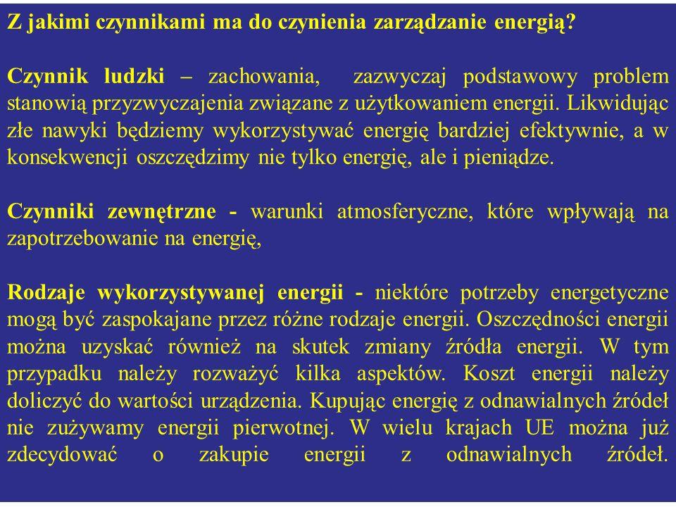 Z jakimi czynnikami ma do czynienia zarządzanie energią