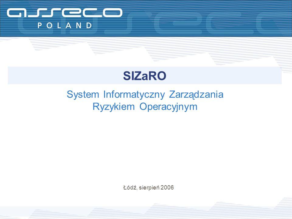 System Informatyczny Zarządzania Ryzykiem Operacyjnym