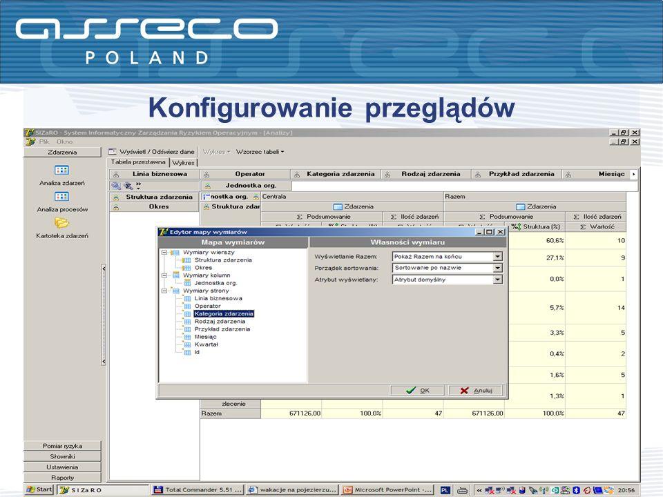 Konfigurowanie przeglądów