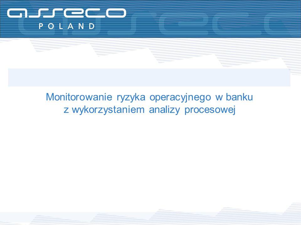 Monitorowanie ryzyka operacyjnego w banku z wykorzystaniem analizy procesowej