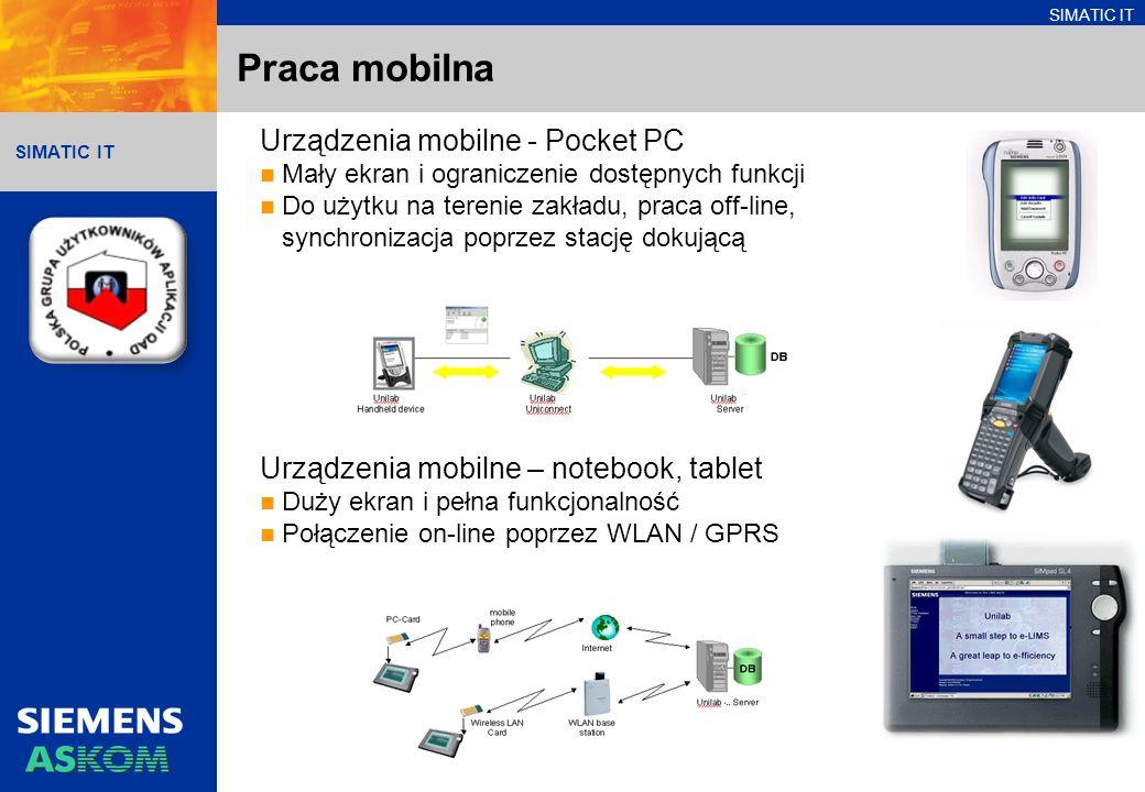 Praca mobilna Urządzenia mobilne - Pocket PC