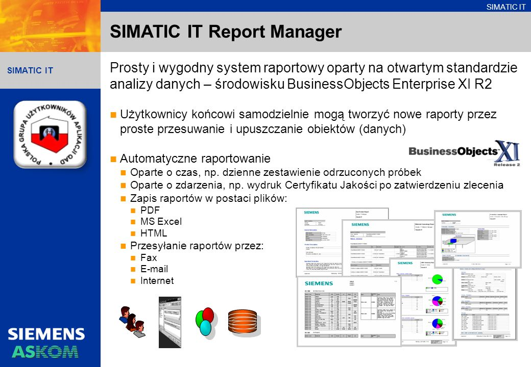 SIMATIC IT Report Manager