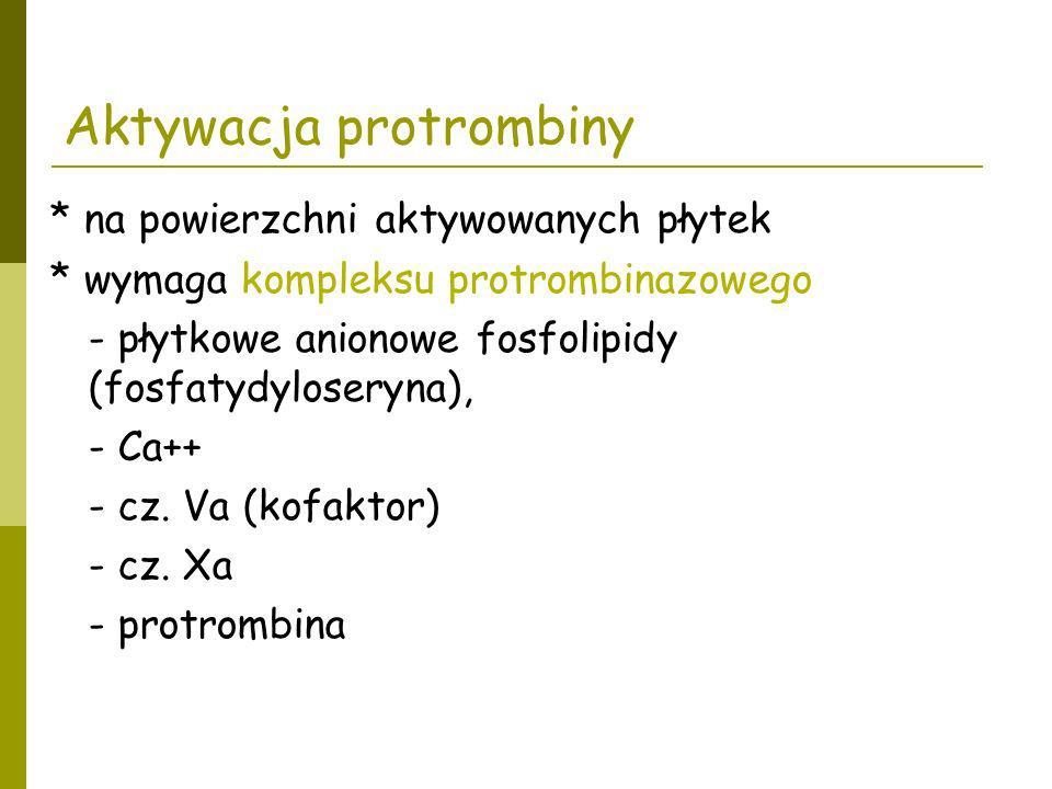 Aktywacja protrombiny