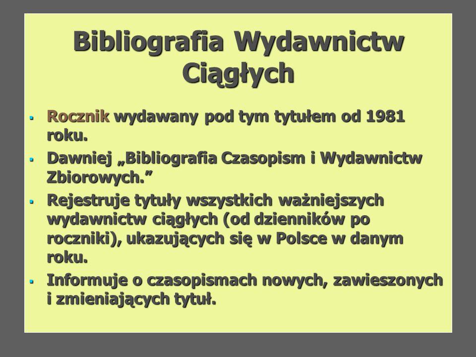 Bibliografia Wydawnictw Ciągłych