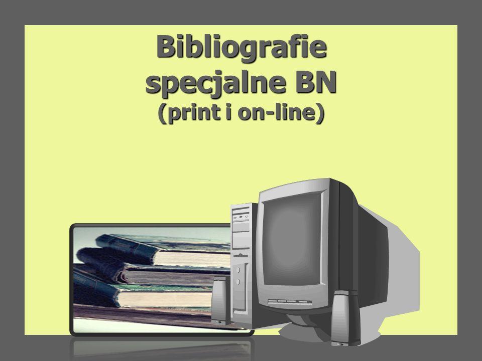 Bibliografie specjalne BN