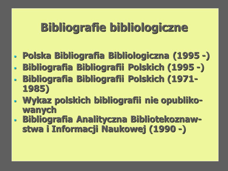Bibliografie bibliologiczne