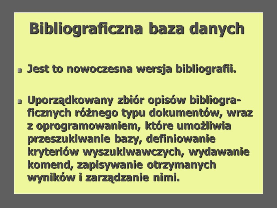 Bibliograficzna baza danych