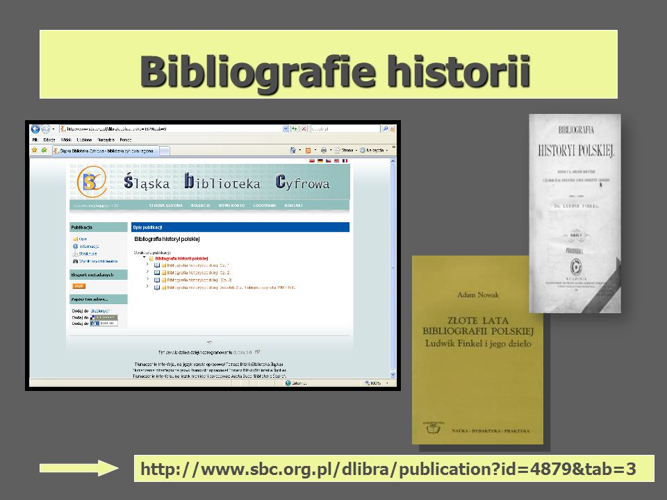 Bibliografie historii