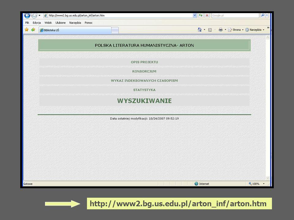 http://www2.bg.us.edu.pl/arton_inf/arton.htm