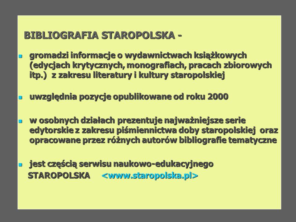 BIBLIOGRAFIA STAROPOLSKA -