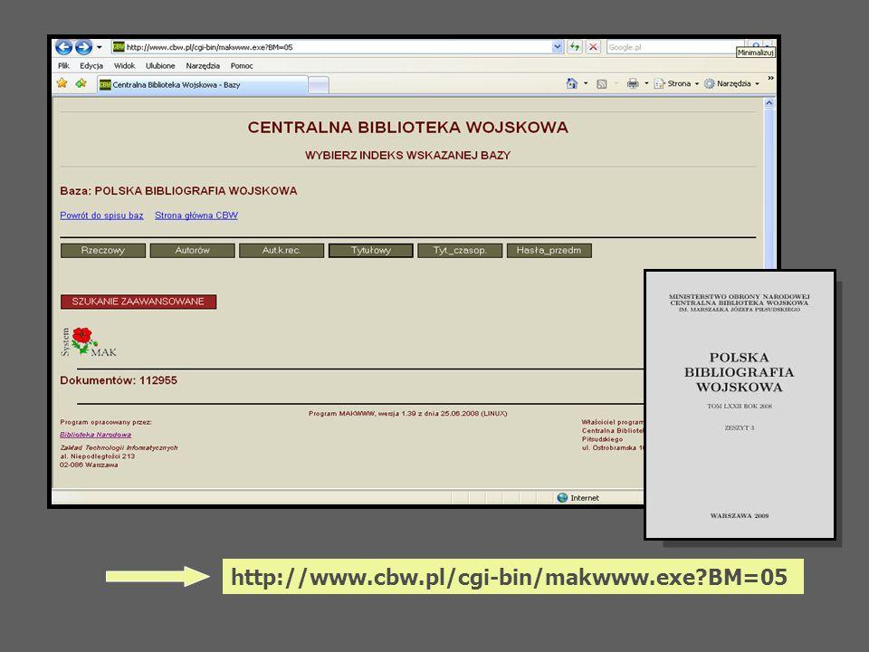 http://www.cbw.pl/cgi-bin/makwww.exe BM=05