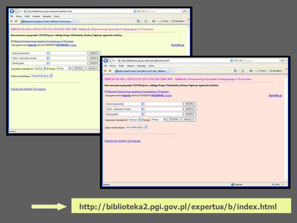 http://biblioteka2.pgi.gov.pl/expertus/b/index.html