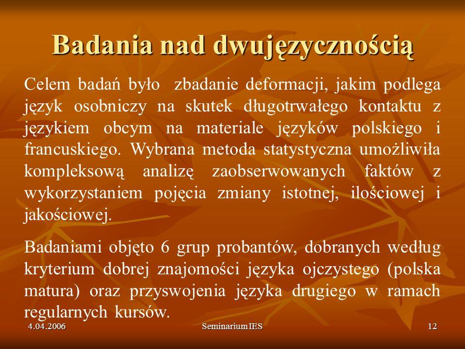 Badania nad dwujęzycznością