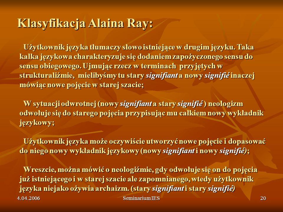 Klasyfikacja Alaina Ray: